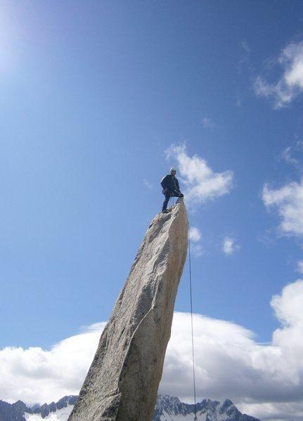 Salbitschijen summit after South Ridge ascent, Switzerland