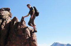 Rock Climbing Photo: Anti Atlas ridge scrambling