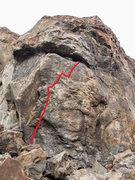 Rock Climbing Photo: The big stretch!