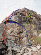 Rock Climbing Photo: Right to Left,  ZigZag Crack 5.8 Lost Sailor 5....