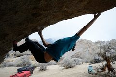 Rock Climbing Photo: It's a pretty big move haha