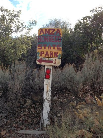 Roadside sign, Anza Borrego State Park