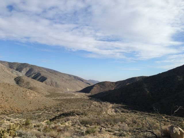 Upper Coyote Canyon from the Turkey Grade, Anza Borrego State Park