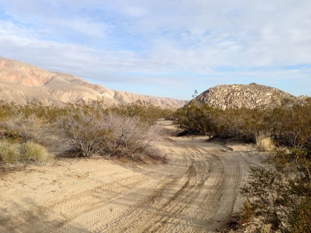 The road through Upper Coyote Canyon, Anza Borrego State Park