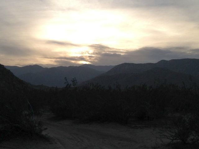 End of the day in Upper Coyote Canyon, Anza Borrego State Park