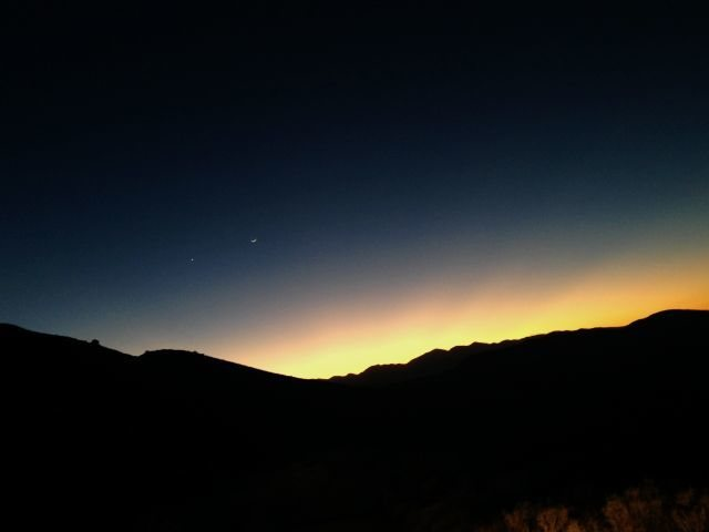 Sunset from Bed Springs Flats, San Bernardino Mountains