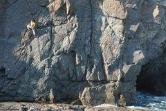 Rock Climbing Photo: Last light of the day at Tung Lung's Technical Wal...