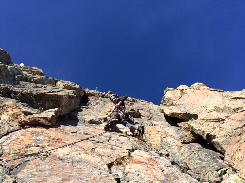 Rock Climbing Photo: Excellent hooking and pro on pitch four.