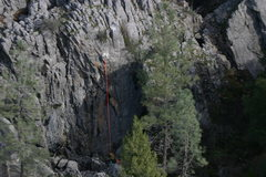 Rock Climbing Photo: Aerial photo of the Back Wall, As Steve and Jadian...