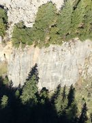 Rock Climbing Photo: Aerial photo of the Pachyderm Wall. Steve Weyand l...