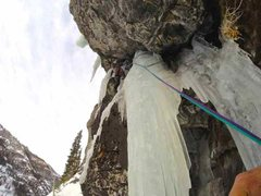 Rock Climbing Photo: Starting one of the best 70M pitches in the San Ju...