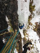 Rock Climbing Photo: Ozman shoots the second, from the huge tree at top...