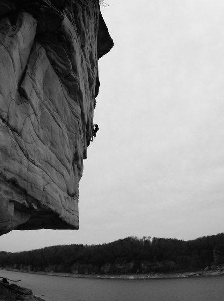 Rock Climbing Photo: Will Rhyne crushing at Summersville Lake
