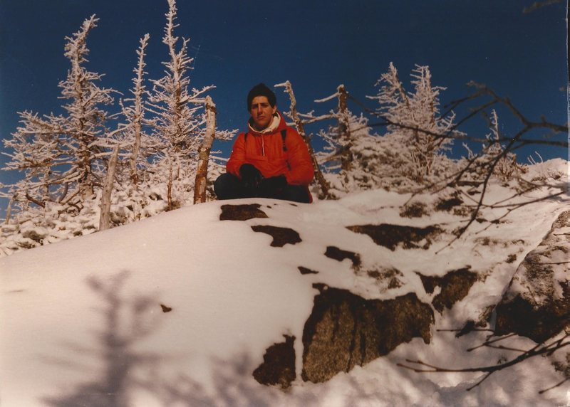 Randy Chalnick at treeline on Wright Peak ADK 1982. This was my first 46er.