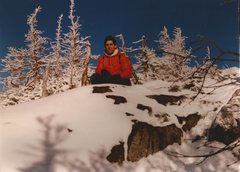 Rock Climbing Photo: Randy Chalnick at treeline on Wright Peak ADK 1982...