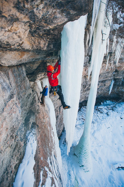Rock Climbing Photo: Noah McKelvin sends Octopussy in style.