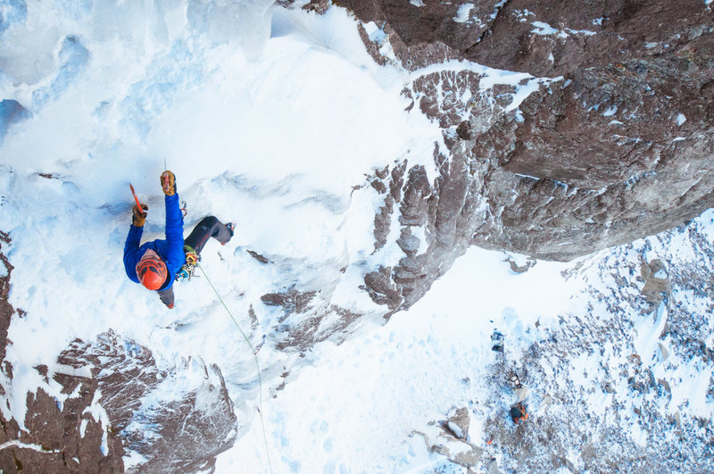 Rock Climbing Photo: Scott Bennett low on the route. This was taken sho...