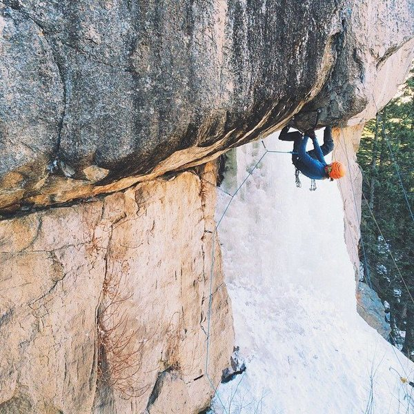 Rock Climbing Photo: A very Firless and iceless, Firhang. M10? iPhone p...