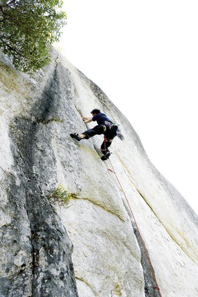Rock Climbing Photo: CVL on 'Cosmic Debris'