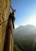 Rock Climbing Photo: Traverse high up on Snott Girlz