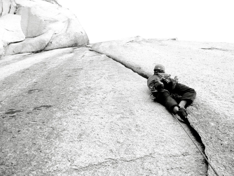 Rock Climbing Photo: Ty Johnson on P1 of HPD.