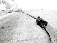 Rock Climbing Photo: Ty Johnson on P1 of HPD.