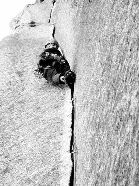 Rock Climbing Photo: Ty Johnson on the Split Pillar