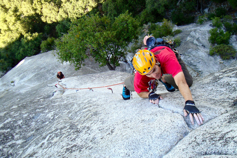 Last moves of the crux on P3