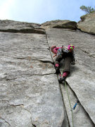 Rock Climbing Photo: Dr. Sciences starting up 'Funky Bolt'