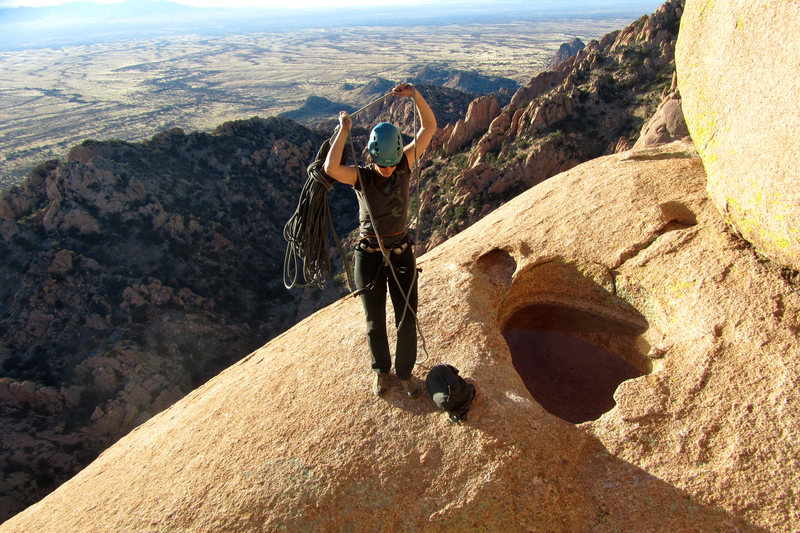 Rock Climbing Photo: On top of 'The Peacemaker'