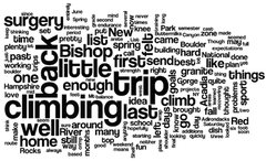 Rock Climbing Photo: Word cloud created from the front page, 2-15-15, j...