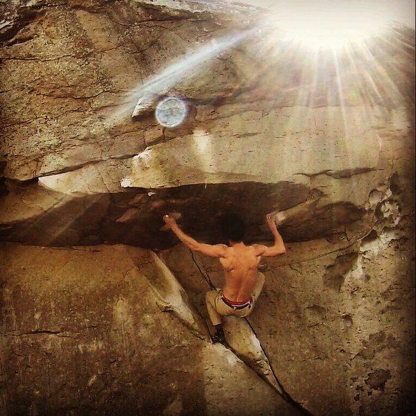 Rock Climbing Photo: Morning attempt on Splashback