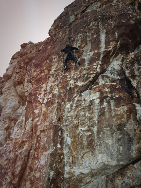 Rock Climbing Photo: Elliott Bliss. First ascent of Ewe.F.O.
