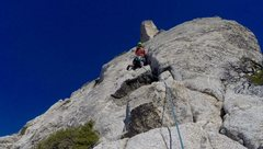 Rock Climbing Photo: Starting up pitch 3!!! The Ultimate Splitter Finge...