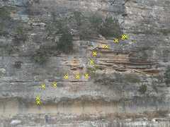 Rock Climbing Photo: Rise Over Run or Texas Limestone Adventure Climb