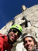 Rock Climbing Photo: Selfie time at the start of pitch 3!!!