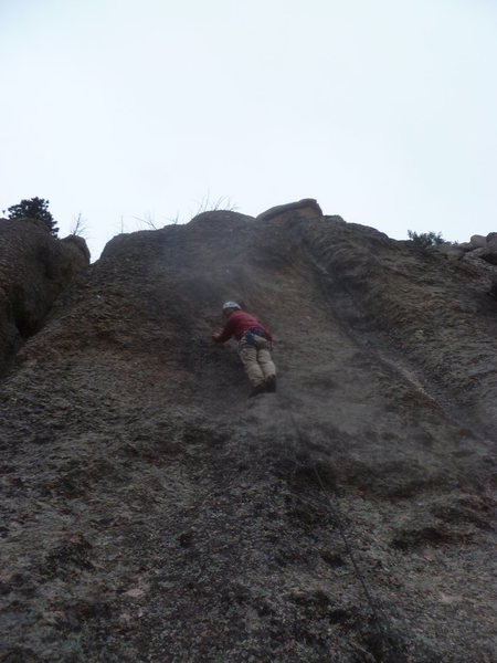Rock Climbing Photo: Partway up on a really cold day.