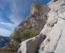 Rock Climbing Photo: Almost through the amazing 5.6R on final pitch!!!