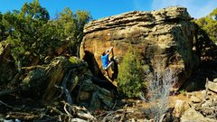 Rock Climbing Photo: Working the mid-section of Goosebump Smoothe.