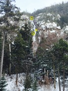 Rock Climbing Photo: Multiplication Gully from the road Feb15, 2015 in ...