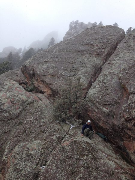 Rock Climbing Photo: The little summit block.  You can pretty much walk...