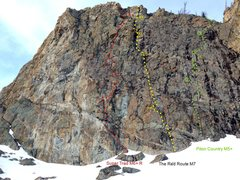 Rock Climbing Photo: big slab topo