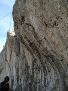 Rock Climbing Photo: Steep, overhanging route