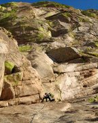 Rock Climbing Photo: The first pitch of 'The Peacemaker'