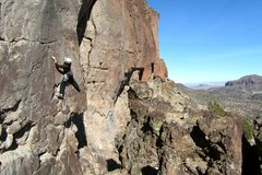 Rock Climbing Photo: Bob Graham climbing at White Rock, NM