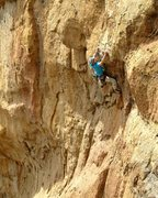 Rock Climbing Photo: Andy Davis on 'Bolt from the Blue'
