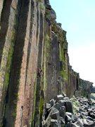 Rock Climbing Photo: SJ onsighting 'Gateway' at Trout Creek