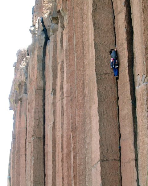 Rock Climbing Photo: Dr. Sciences redpointing 'JR Token' at Trout Creek