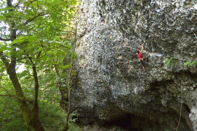 Rock Climbing Photo: Jake on 'Enchilada'
