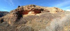 Rock Climbing Photo: Choss Cave in Mill Canyon, Echo Canyon